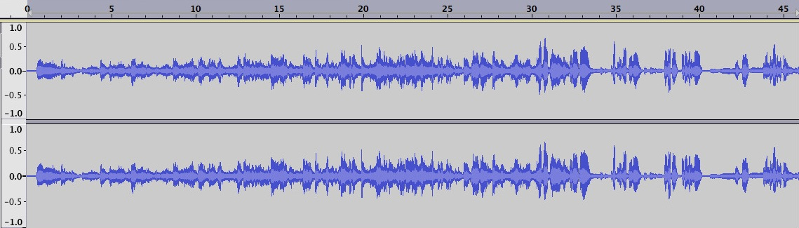 Waveforms in Audacity