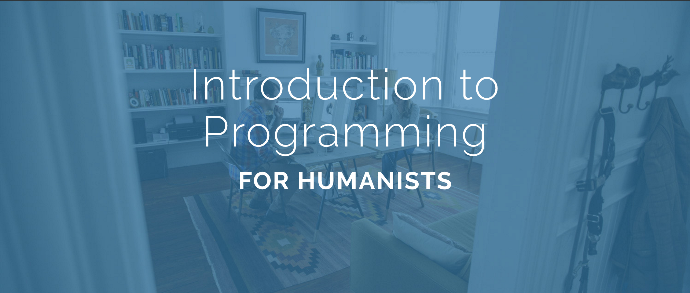 Humanities Programming course splash page.