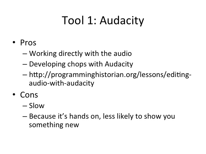 pros and cons of audacity