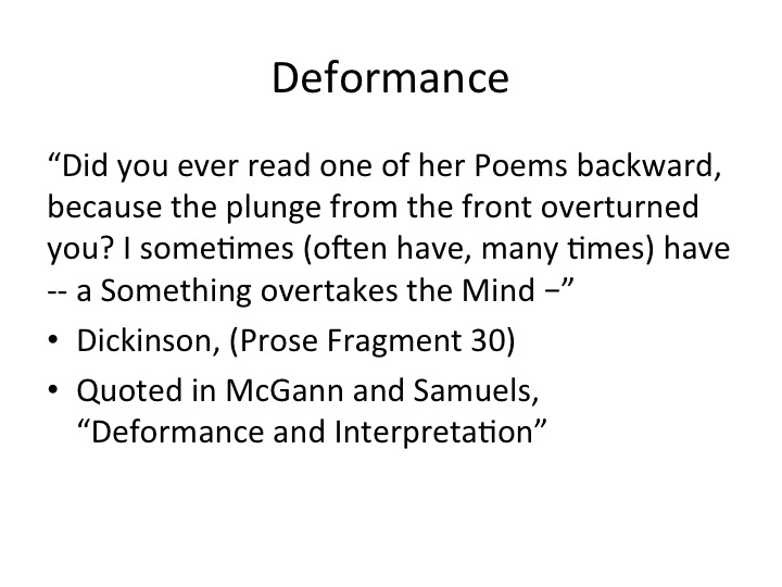 deformance quotation