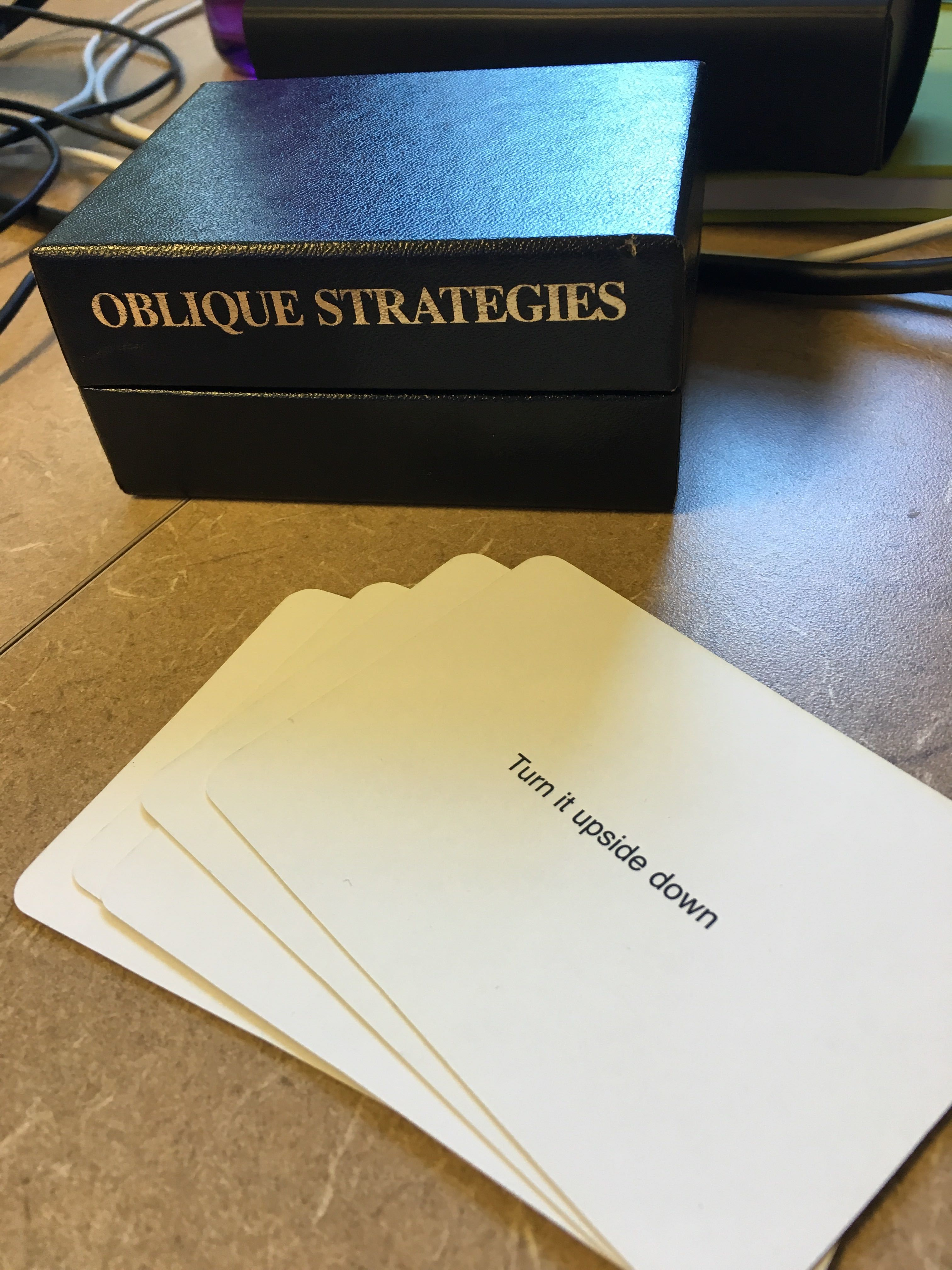 Oblique Strategies card and deck