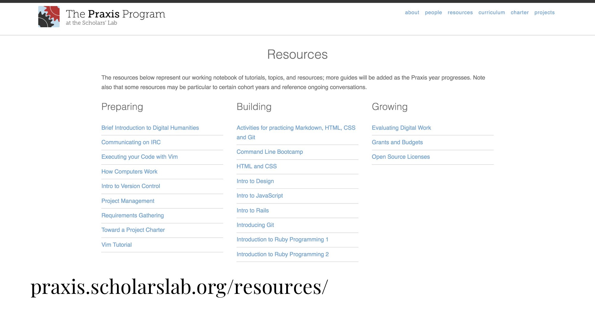 image of Praxis resources and curriculum published online