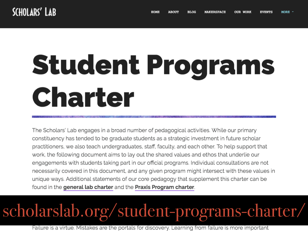 Image of student programs charter in particular