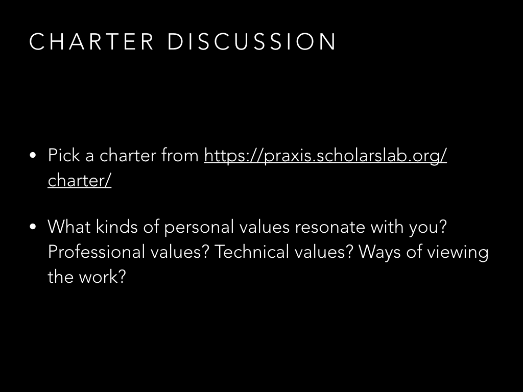 Charter discussion slide