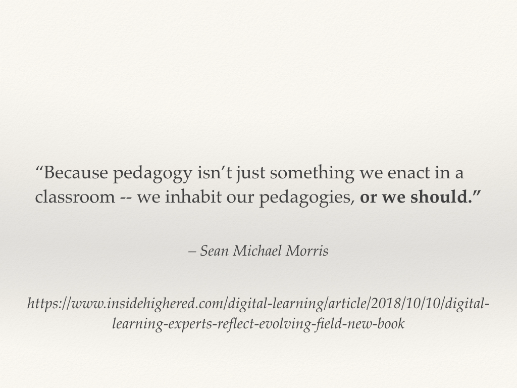 Pedagogy as habitus