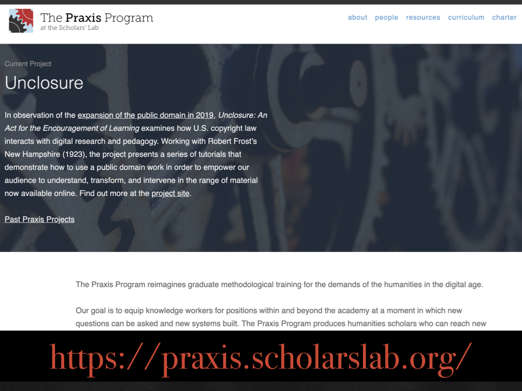 Praxis program splash page